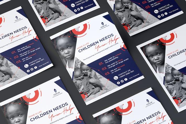 Charity, Non-Profit Flyer