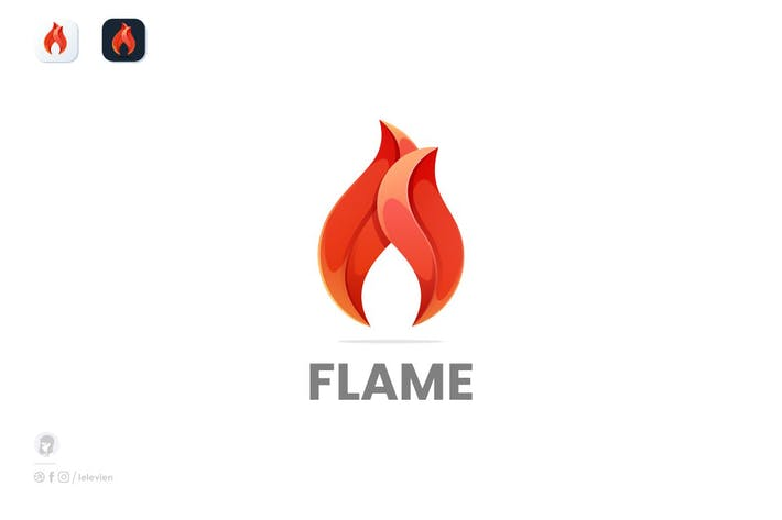 Thumbnail for Flames logo template
