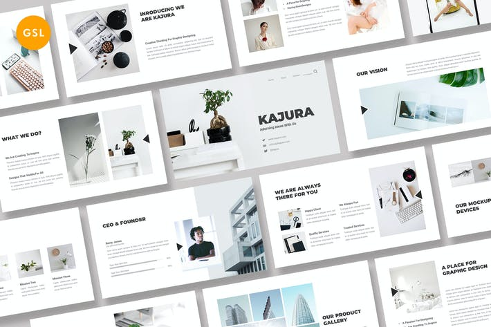 Thumbnail for Kajura Creative Business Google Slides Template