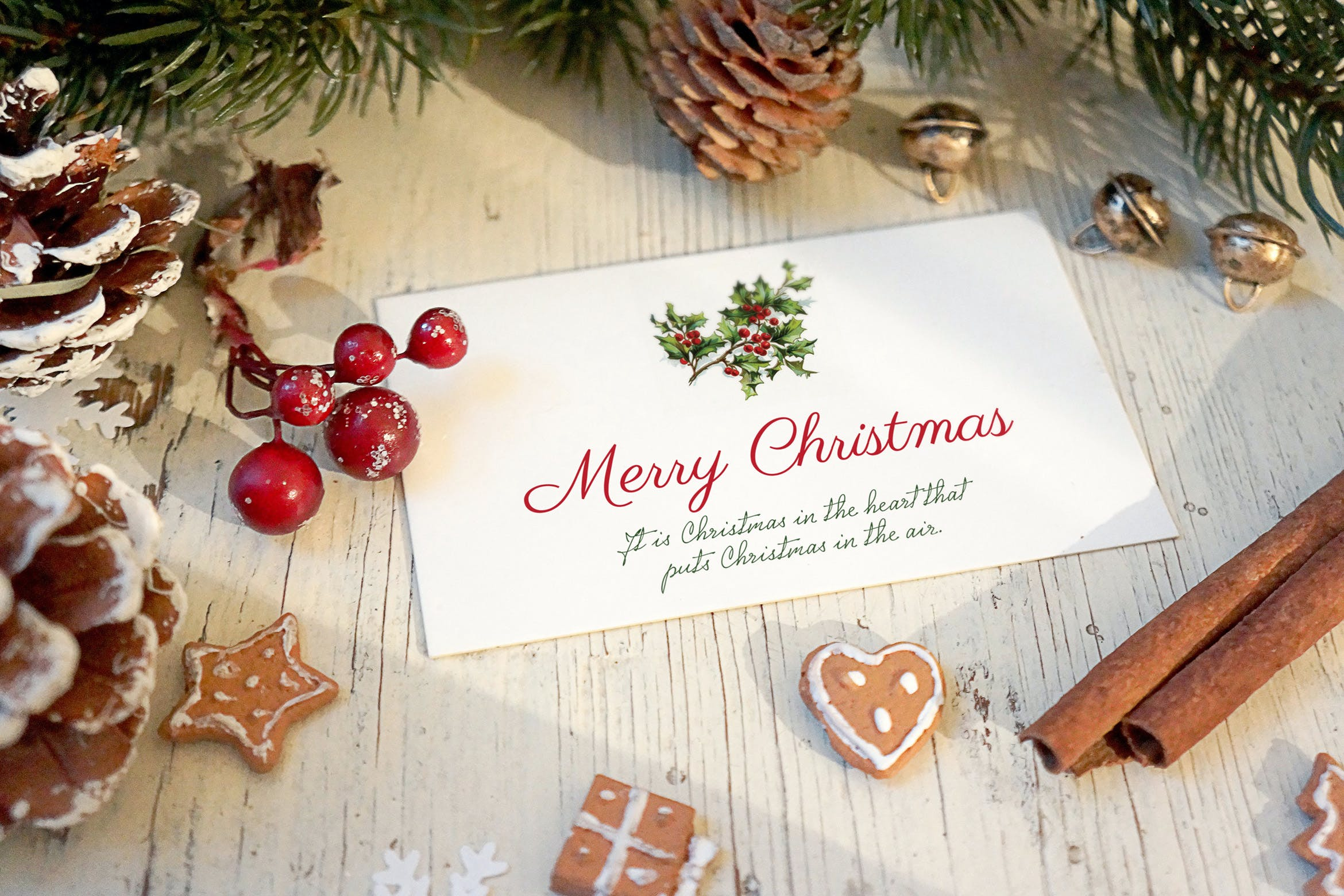 Christmas Card Mockup by amris on Envato Elements