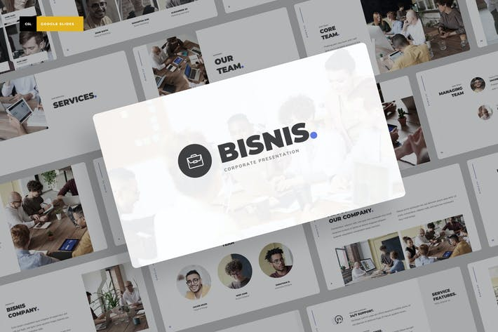 Thumbnail for Bisnis - Corporate Google Slides Template