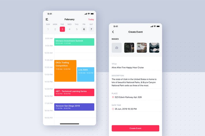 Thumbnail for Social mobile app UI template