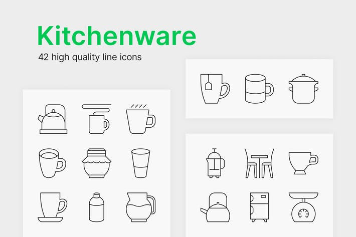 Thumbnail for Kitchenware Icons