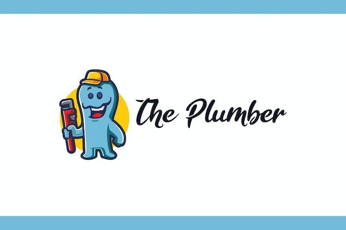 Thumbnail for Cartoon Monster Plumber Mascot Logo