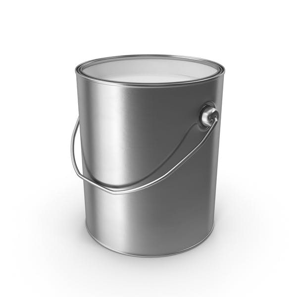 White Metal Paint Can