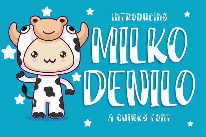 Thumbnail for Milko Denilo - a Quirky Font