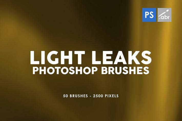 Thumbnail for 50 Light Leaks Photoshop Brushes