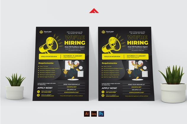 Company Job Hiring Flyer Advertisement