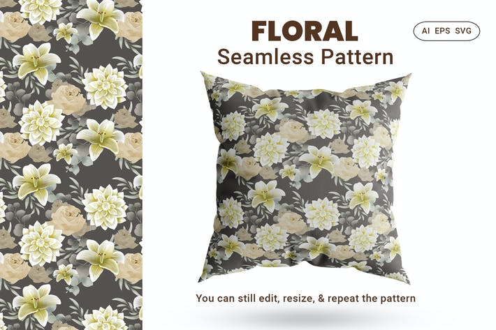 Thumbnail for Seamless Pattern Floral