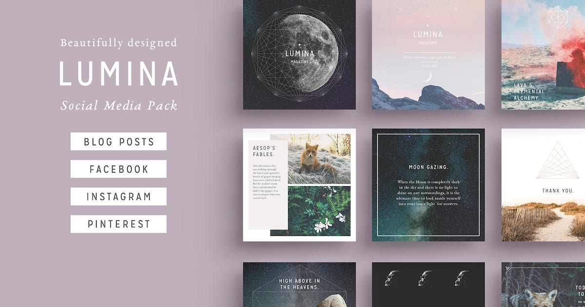 Download LUMINA Social Media BUNDLE by FortySixandTwo