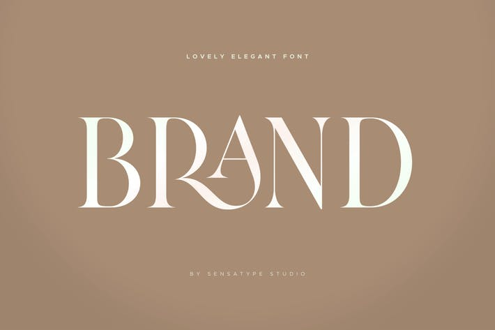 Thumbnail for Brand - Lovely Elegant Font