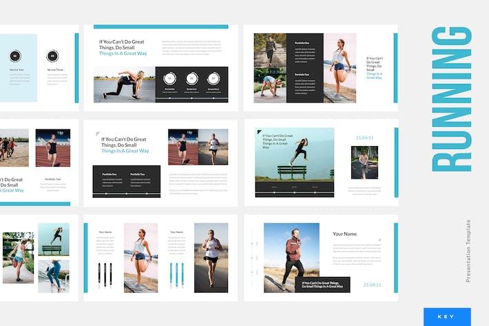 Thumbnail for Running - Sport Keynote Presentation Template