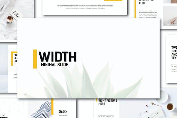 Thumbnail for Width Minimal | Google Slides