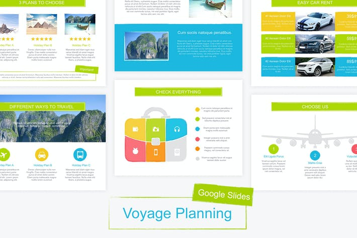 Thumbnail for Voyage Google Slides Vorlage