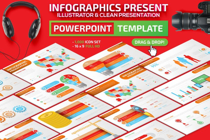 Thumbnail for Infographics Powerpoint Presentation Template