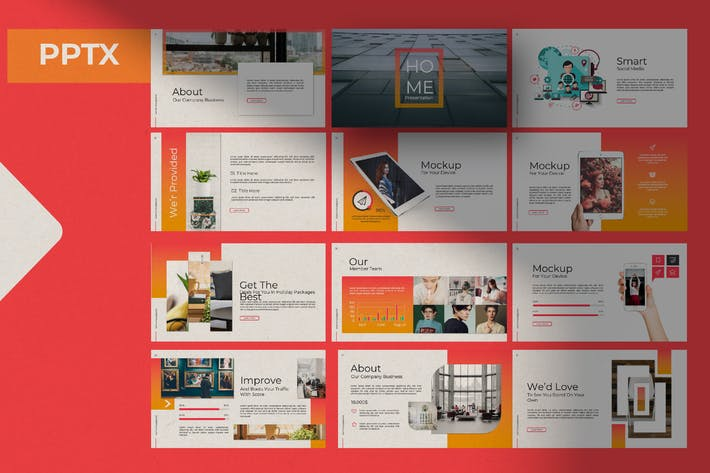 Thumbnail for Home Powerpoint Template