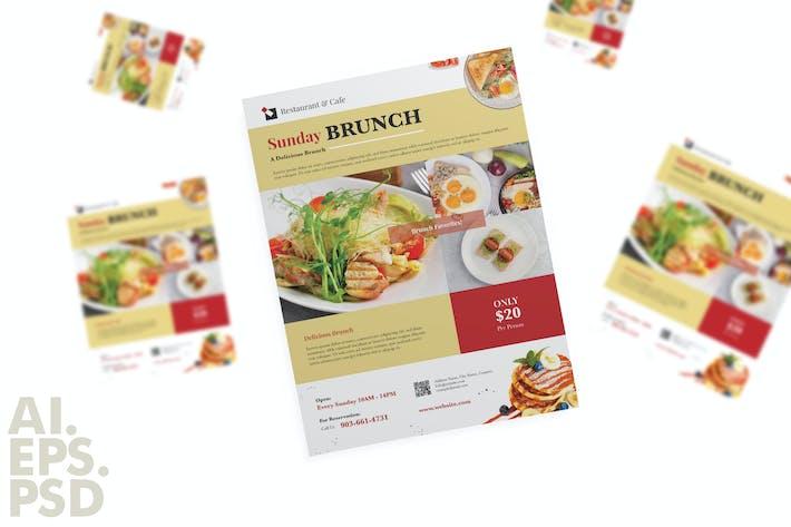 Thumbnail for Brunch Food / Restaurant Flyer Design