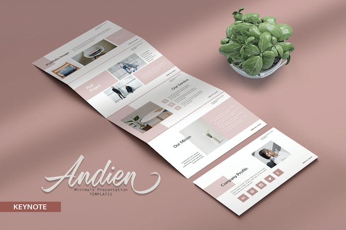 Thumbnail for ANDIEN - Minimals Fashion Keynote Template