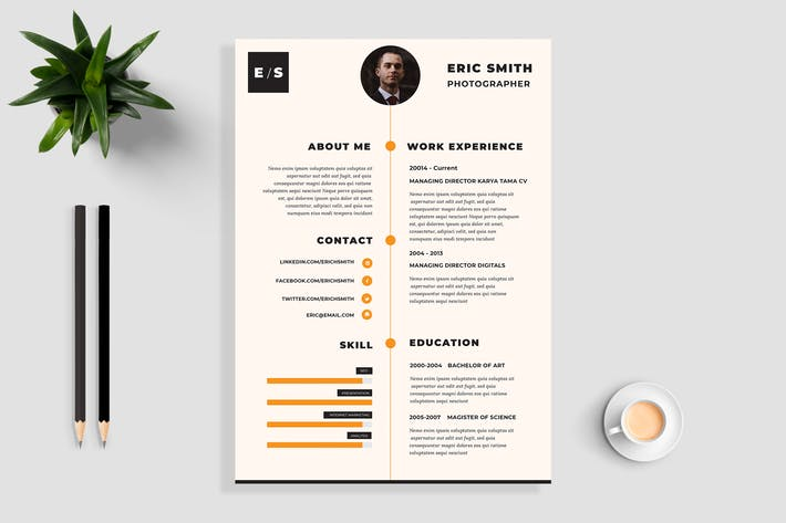 Thumbnail for Clean Resume / CV Template