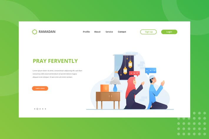 Cover Image For Pray Fervently Landing Page