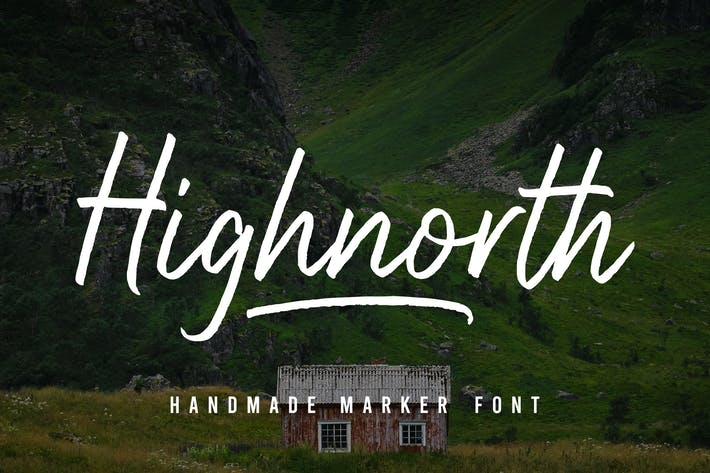Thumbnail for Highnorth - Handmade Marker Font