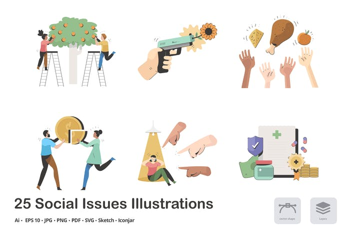 Social Issues Calma Illustration Pack