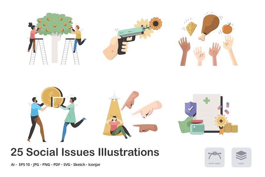 Social Issues Calma Illustration Pack