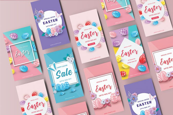 Happy Easter Day Sale Instagram Stories Template