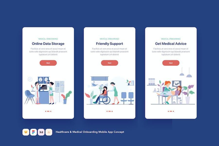 Healthcare & Medical Onboarding Mobile App Concept