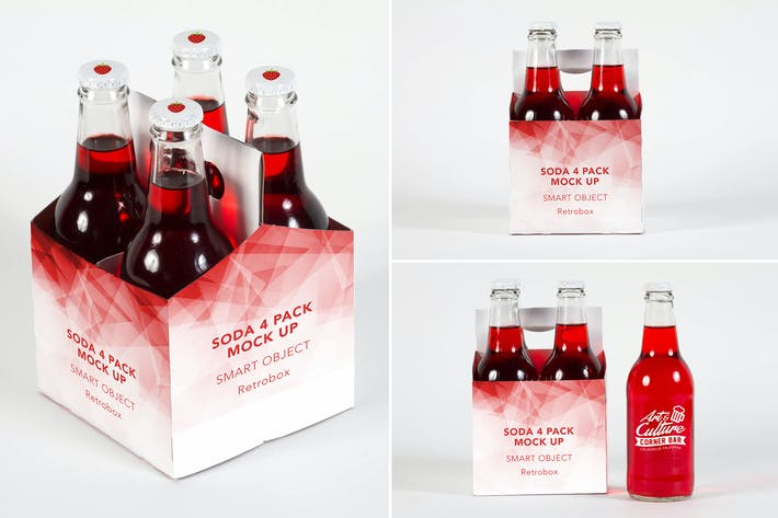 Thumbnail for Soda 4 Pack Bottle Mock Up