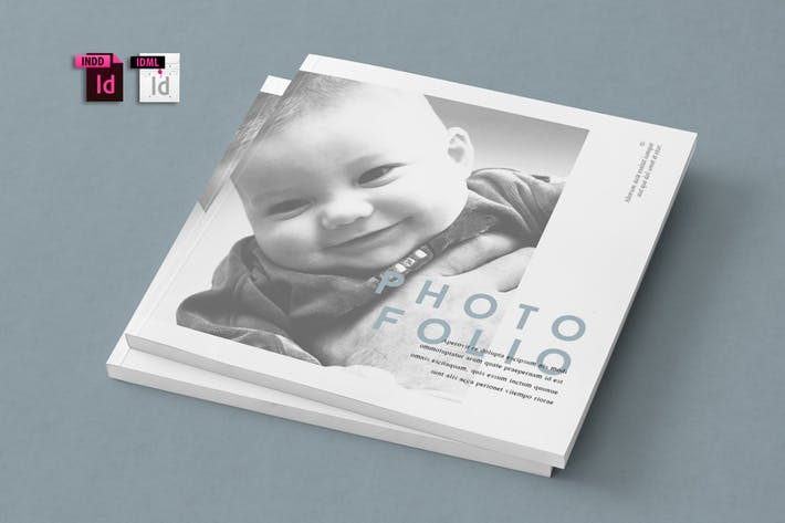 Thumbnail for Square Photofolio Template