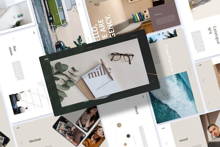 Thumbnail for Mille Lookbook - Keynote