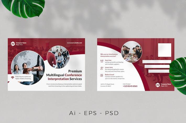 Thumbnail for Carte postale du service d'interprétation