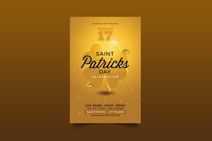Dépliant de célébration de la Saint-Patricks