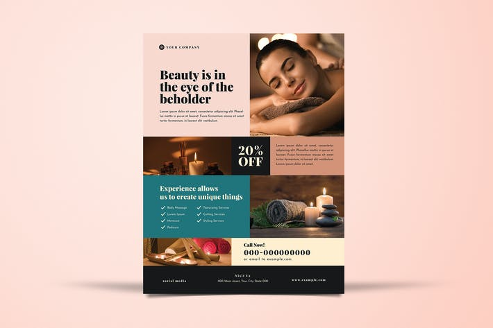 Beauty Spa Flyer Layout