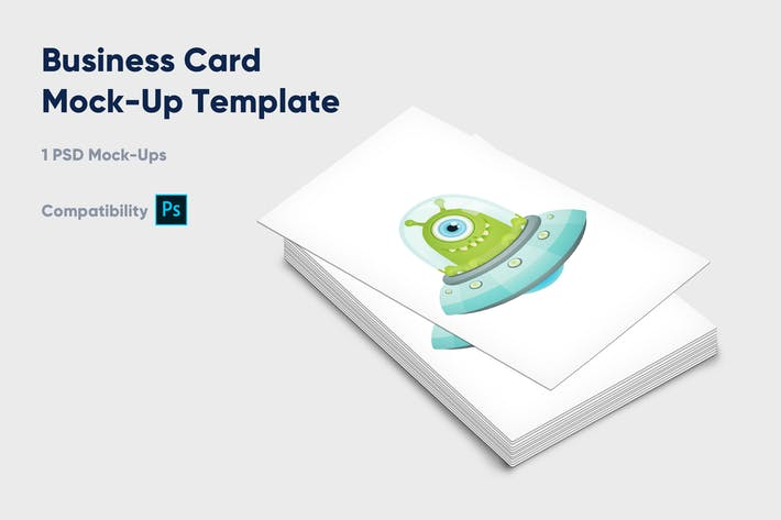 Thumbnail for Business Card Mock-Up Template - Vol. 2