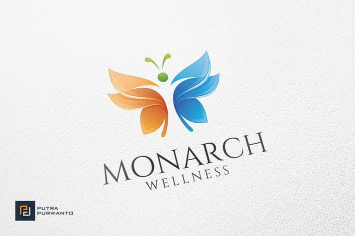 Thumbnail for Monarch Wellness - Logo Template