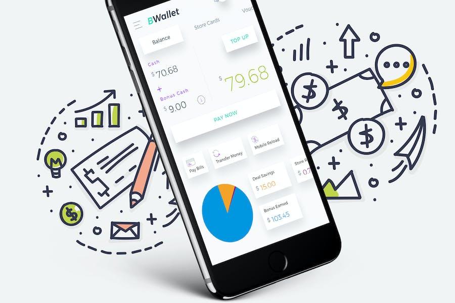 B Wallet Dashboard 3 Mobile Ui