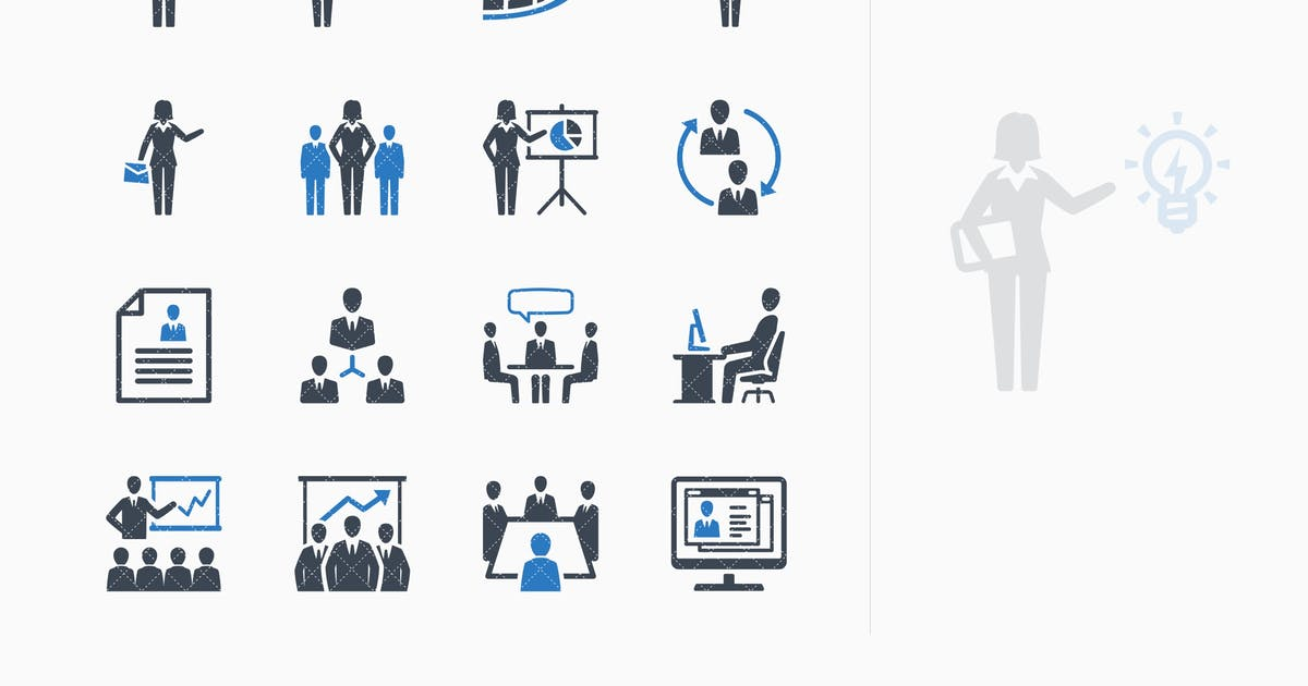 Download Business Management Icons Set 1 - Blue Series by Unknow