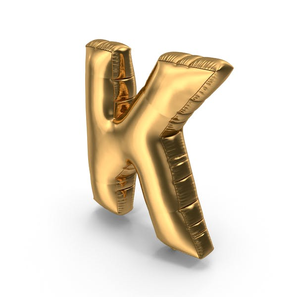 Thumbnail for Foil Balloon Letter K Gold