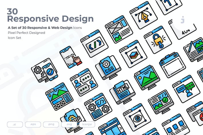 30 Responsive & Web Design Icons