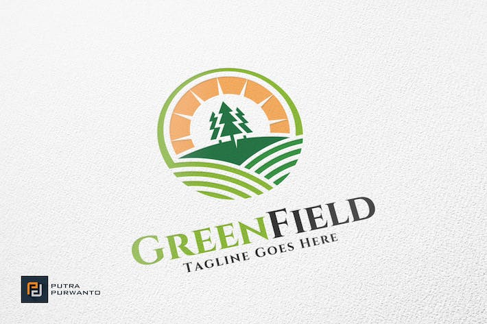 Thumbnail for Green Field - Logo Template