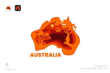 Australia logo templates