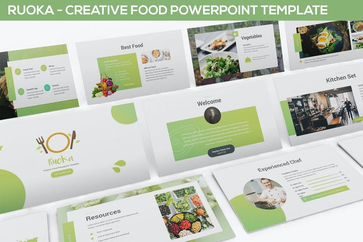 Cover Image For Ruoka - Creative Food Powerpoint Template