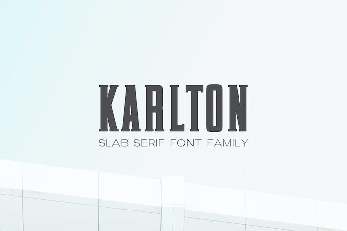 Thumbnail for Karlton Slab Serif Font Family
