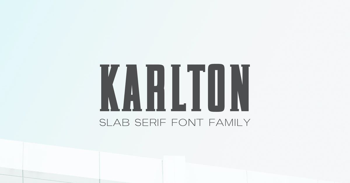 Download Karlton Slab Serif Font Family by creativetacos