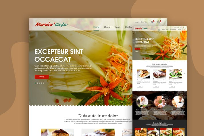 Thumbnail for Food Landing Page Design Concept