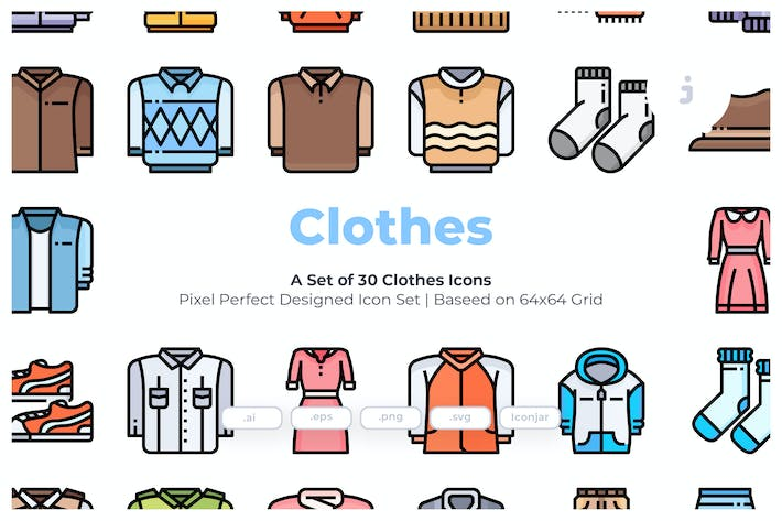 Thumbnail for 30 Clothes Icons