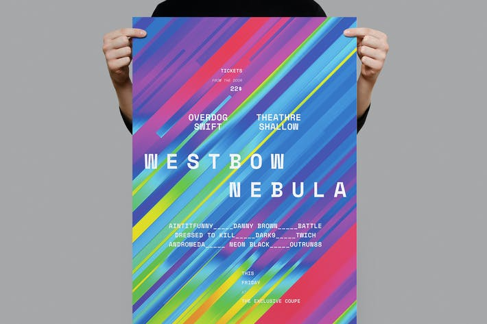 Cover Image For Westbow Nebula Poster / Flyer