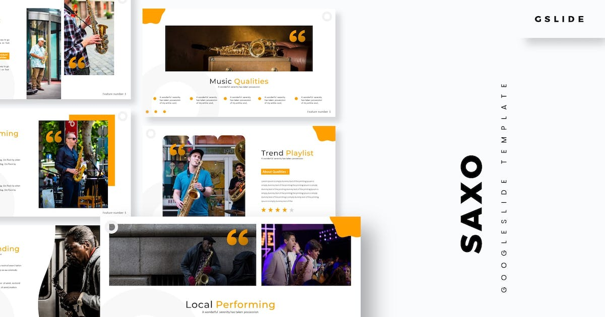 Download Saxo - Google Slide Template by aqrstudio